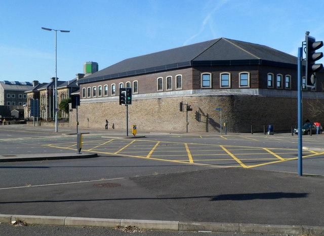 SE corner of HM Prison Swansea