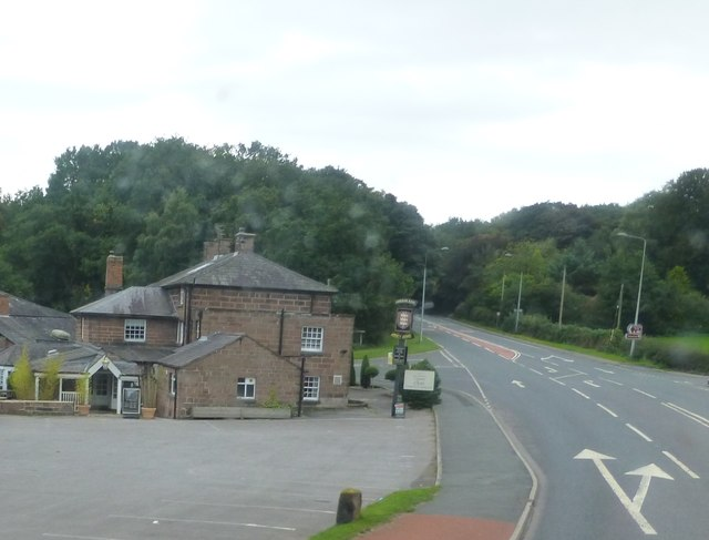 The A556 at Oakmere junction with the B5152