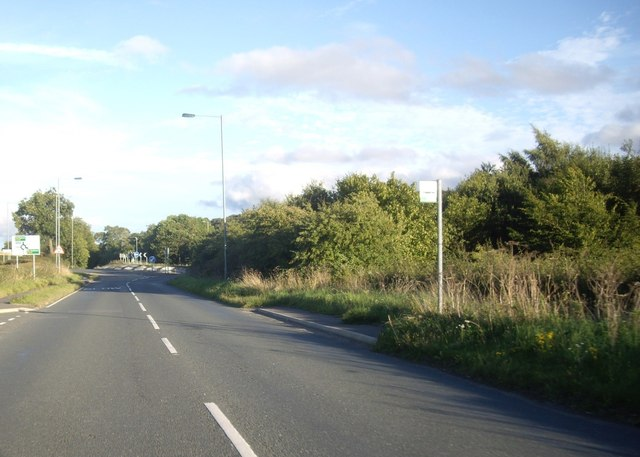 Approach to A689 roundabout