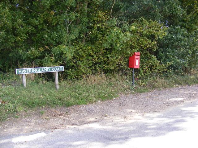 Haveringland/School Road Postbox
