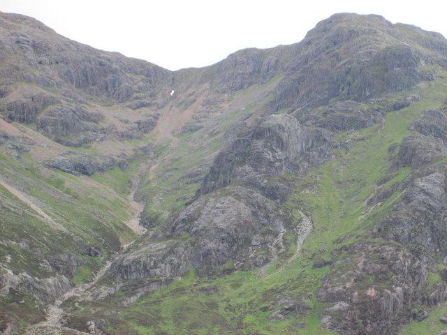 Steep route up Buachaille Etive Mor