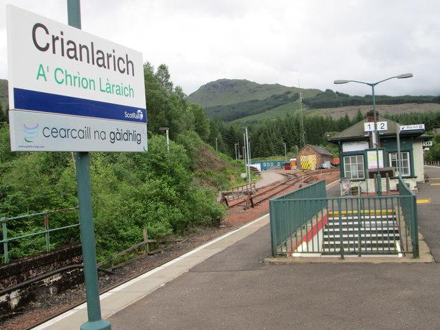 At Crianlarich Railway Station