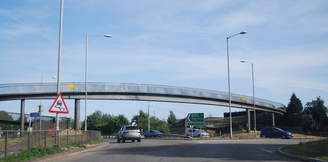 Footbridge over the A27