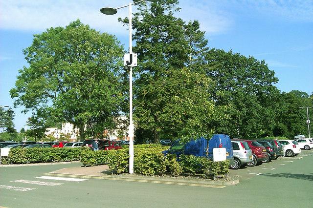Car park, Trentham Gardens Retail Centre, Trentham