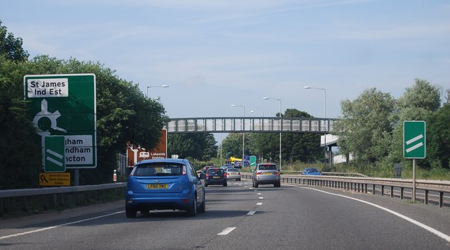 Footbridge, Chichester bypass