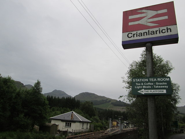 Approaching Crianlarich Railway Station