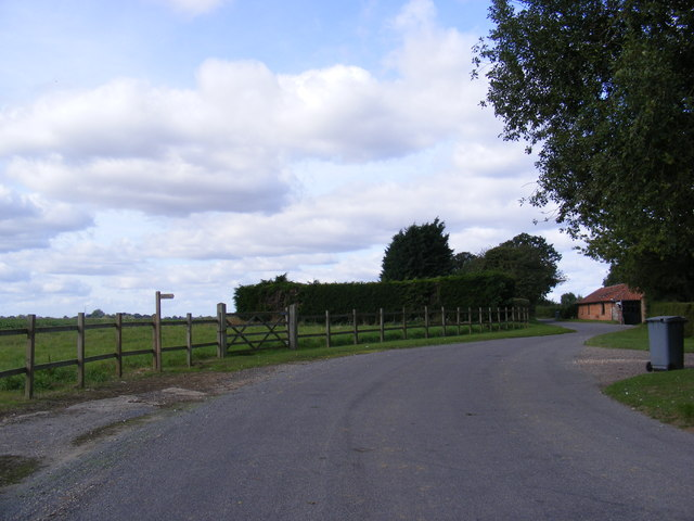 Church lane & footpath