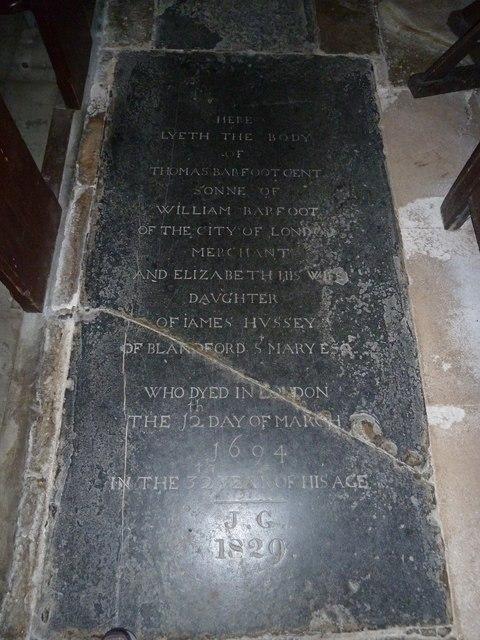 St Gregory, Marnhull: memorial (b)