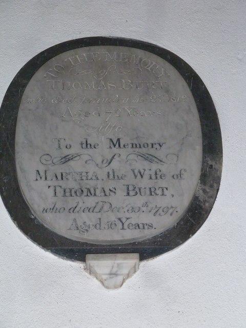 St Gregory, Marnhull: memorial (d)