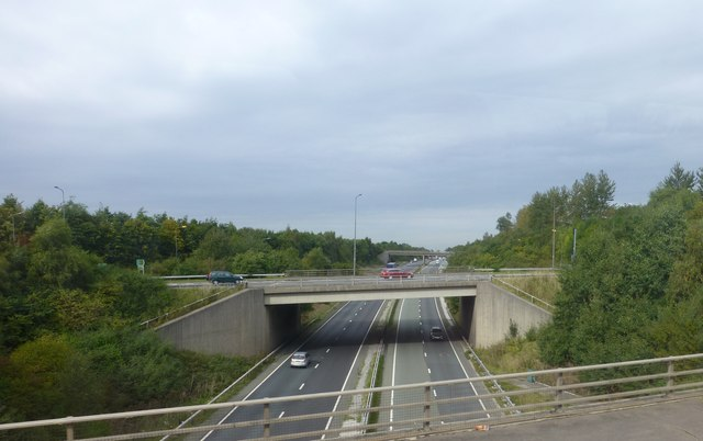 The A51 crosses the A55 at Littleton