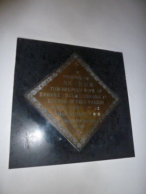 St Gregory, Marnhull: memorial (g)