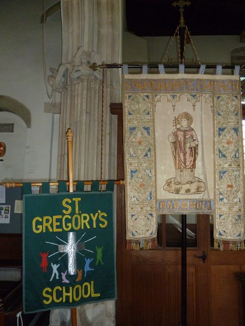St Gregory, Marnhull: banners