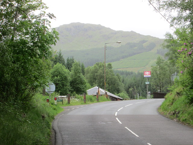 Road leading to the railway station, Crianlarich