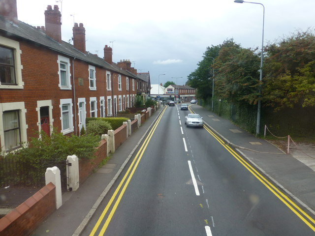 The A51 Tarvin Road at Boughton
