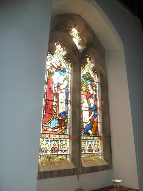 St Gregory, Marnhull: stained glass window (1)