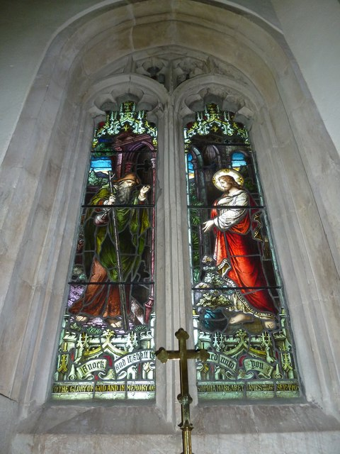 St Gregory, Marnhull: stained glass window (4)