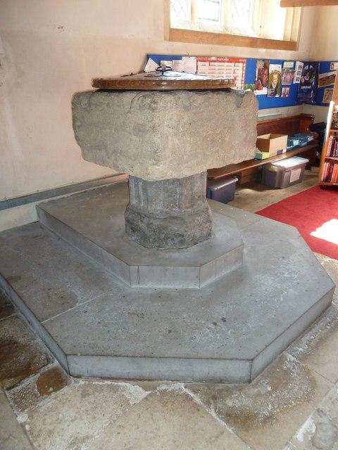 St Gregory, Marnhull: font