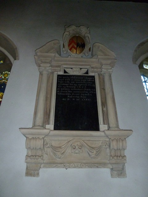 St Gregory, Marnhull: memorial (h)