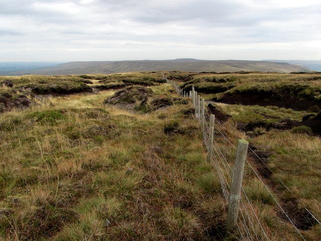 Boundary Fence on Little Whernside Summit