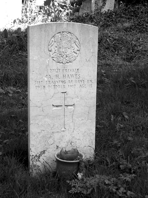 War grave from WW1, Rockland St Mary
