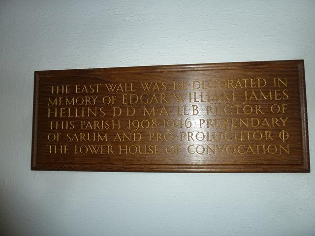 St Gregory, Marnhull: memorial (j)