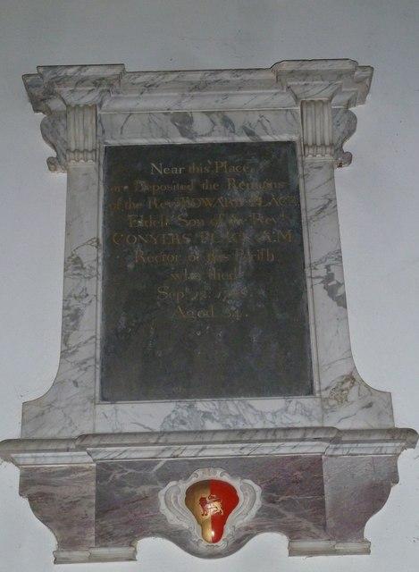 St Gregory, Marnhull: memorial (l)