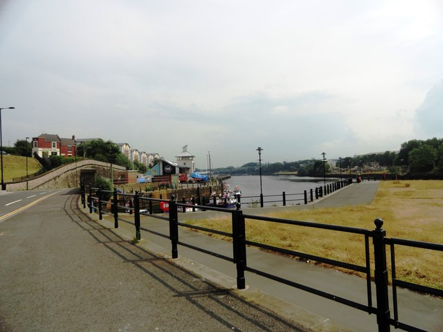 View east at the mouth of the Ouseburn