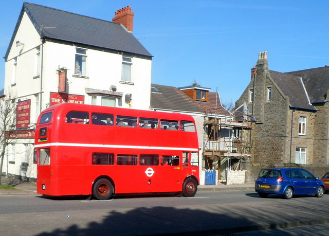 Routemaster bus in Swansea