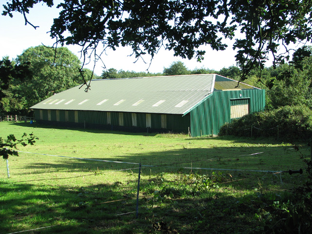 Large farm shed by Star House