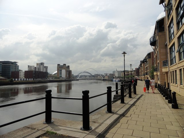 Looking west along the Quayside