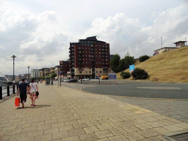New flats along Newcastle's Quayside