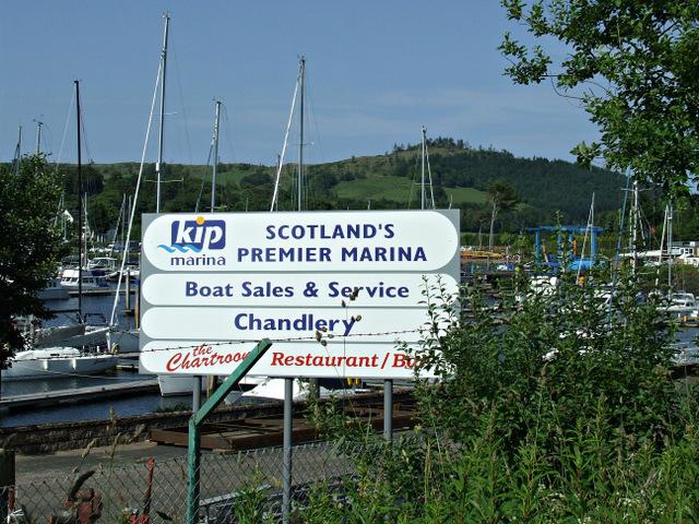 Kip Marina sign