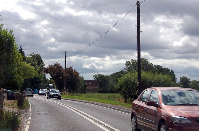 A36 leaving South Newton