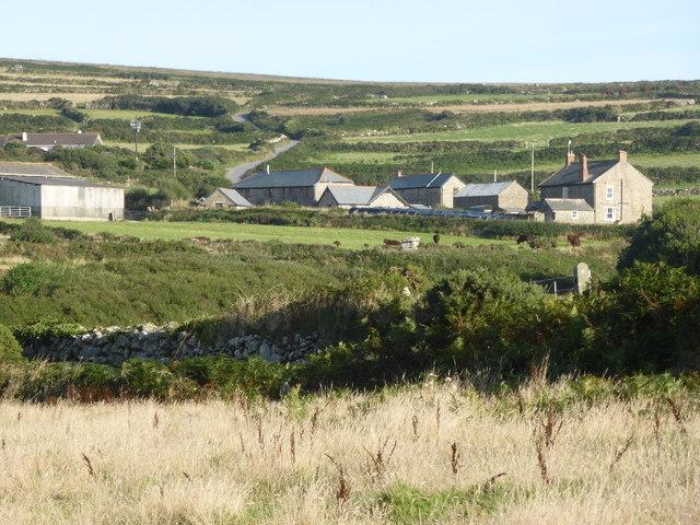 Trevean seen from the coastal path