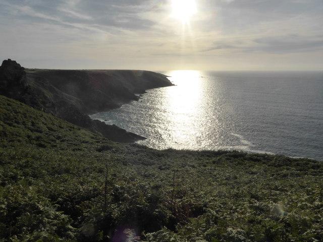 Afternoon sunshine on the Atlantic
