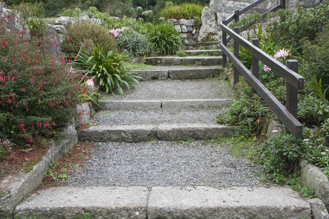 Steps behind St. Levan church
