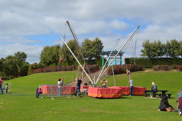 Fairground at picnic area at Willen Lake