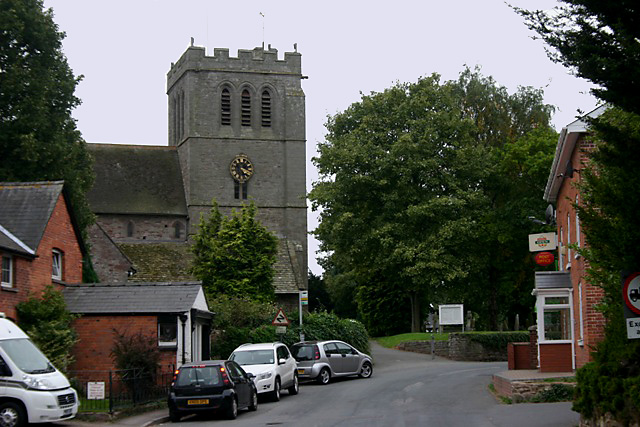 Madley - Post Office & church of the Nativity of the Virgin Mary
