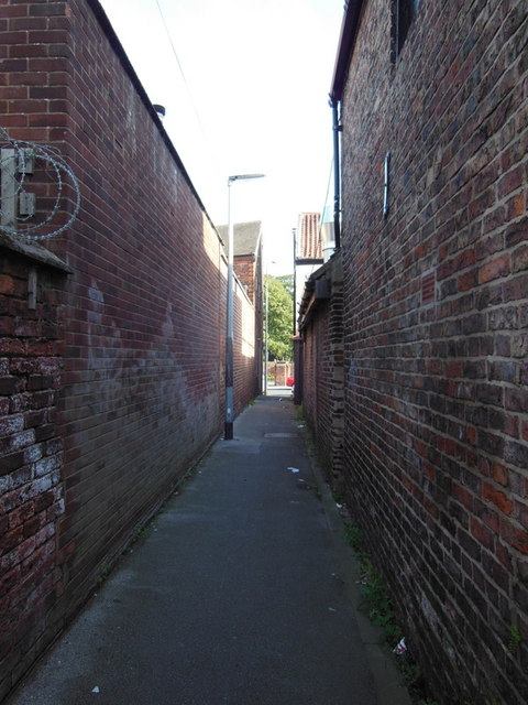 A path leading to Church Street, Sutton on Hull