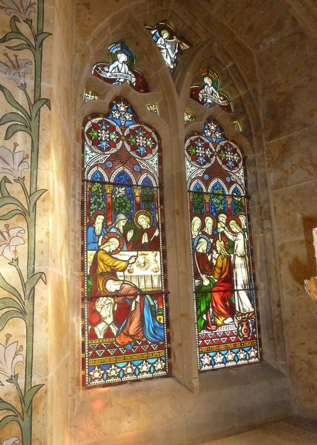 St Mary, Powerstock: stained glass window  (A)