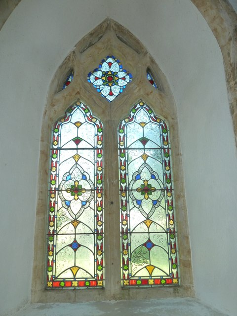 St Mary, Powerstock: stained glass window  (C)