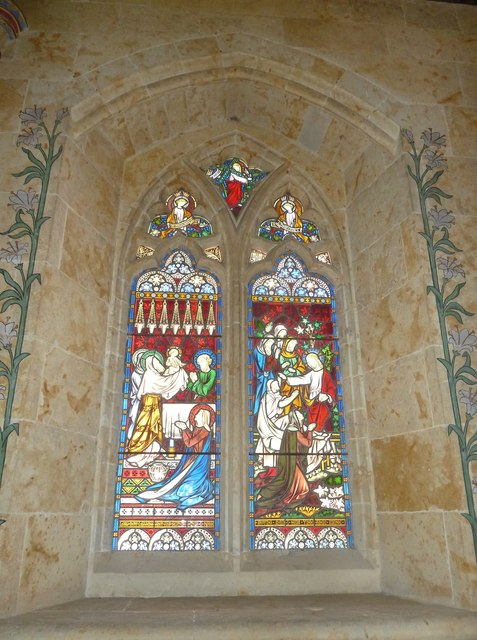 St Mary, Powerstock: stained glass window  (D)