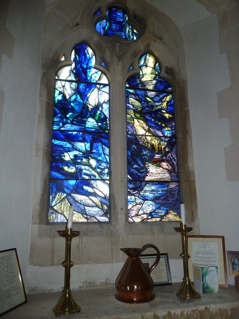 St Mary, Powerstock: stained glass window  (F)