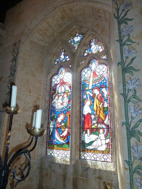 St Mary, Powerstock: stained glass window  (H)