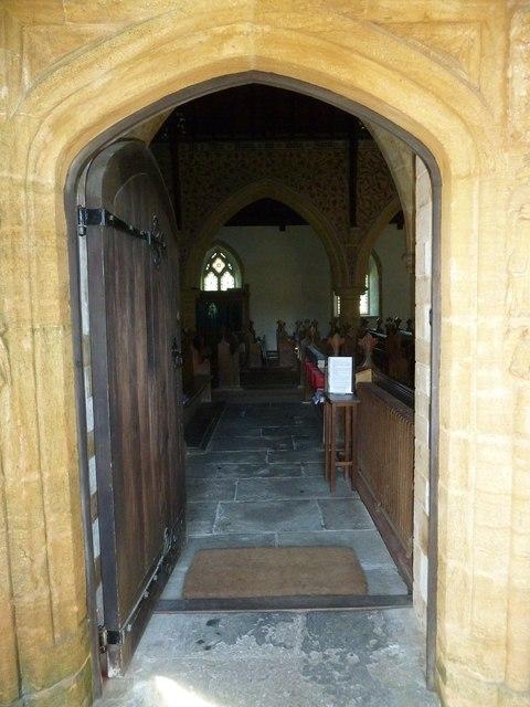 Going inside St Mary, Powerstock
