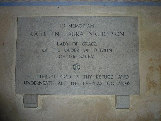 St Mary, Powerstock: memorial (1)
