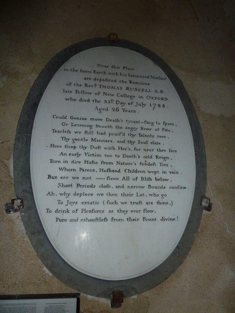 St Mary, Powerstock: memorial (3)