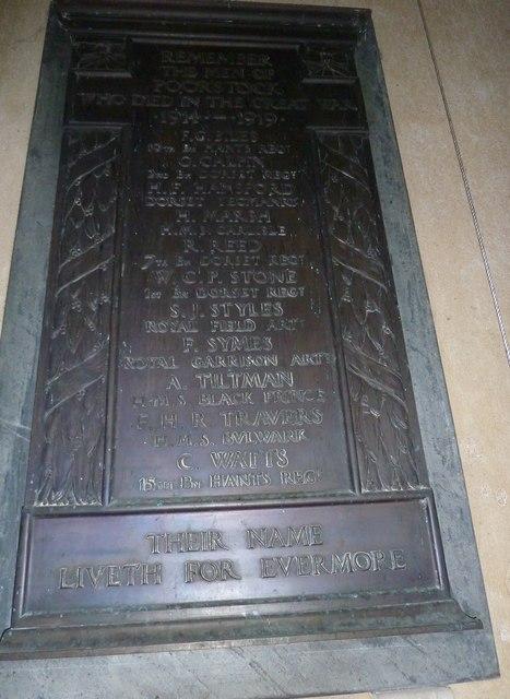 St Mary, Powerstock: memorial (5)