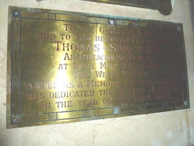 St Mary, Powerstock: memorial (6)