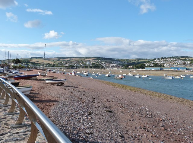 The Shaldon-Teignmouth bridge and the mouth of the Teign